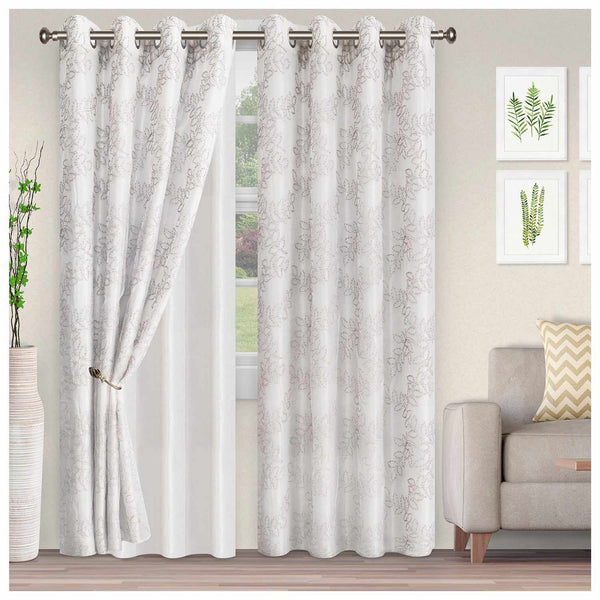 FOLIAGE 2 PANELS SHEER CURTAINS