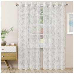 SUPERIOR SCROLL 2 PANELS SHEER CURTAINS