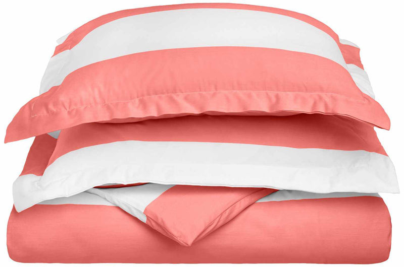 Kids' Cabana Stripe 600-Thread Count Cotton-Blend Duvet Cover Set