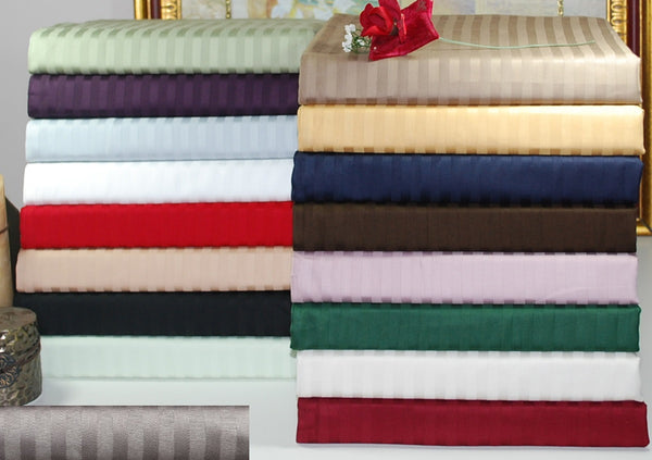 Striped Soft Sheet Set, 300-Thread-Count, Premium Long-Staple Cotton, 17 Colors