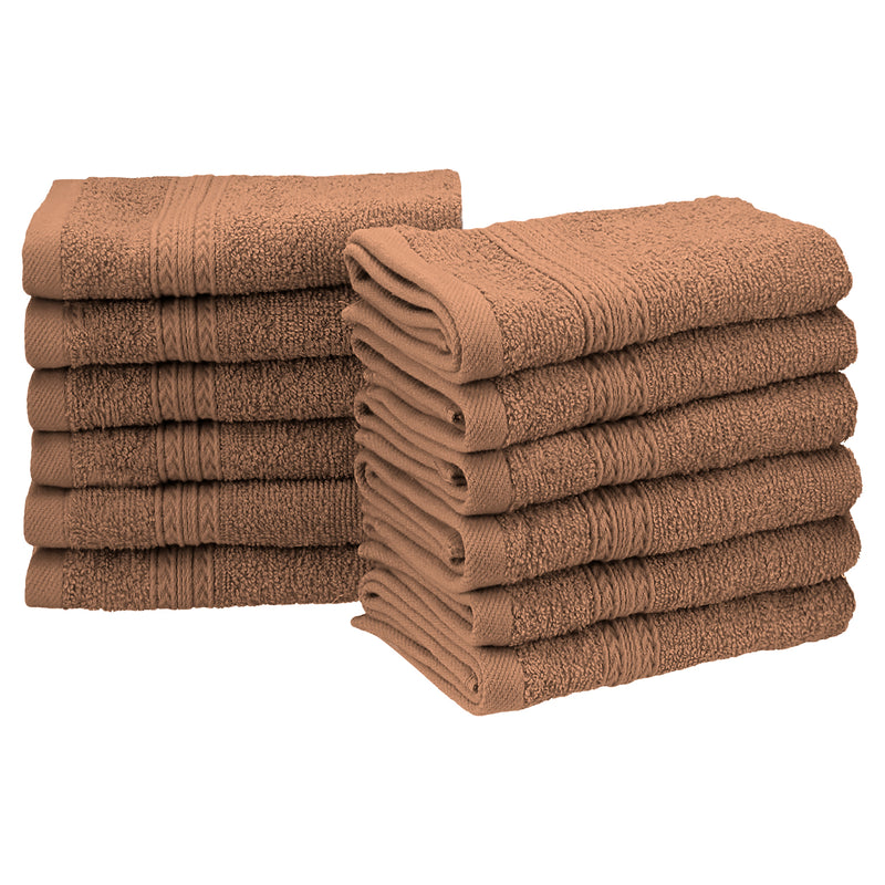 Eco-Friendly 100% Cotton Ring-Spun 12-Piece Face Towel Set