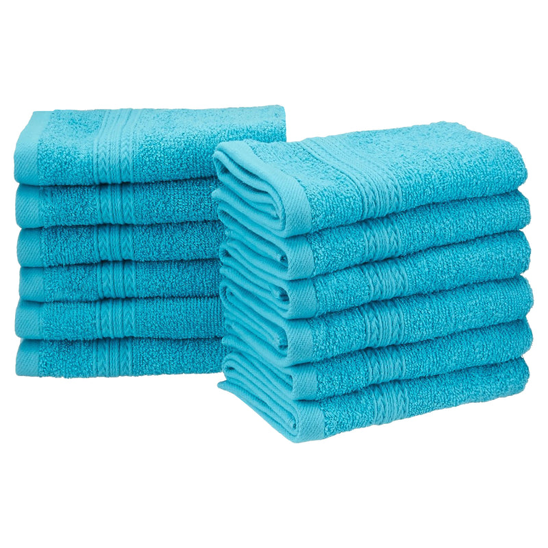 Eco-Friendly 12-Piece Cotton Face Towels
