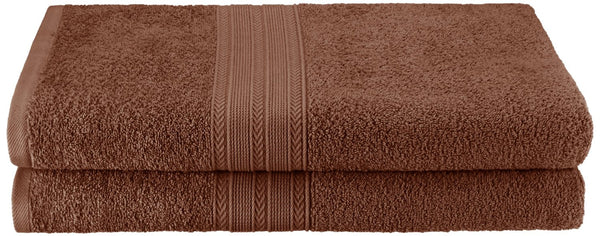 Vitally Eco-Friendly Bath Towel Sheets, 100% Cotton, Ring-Spun, 2-Pieces