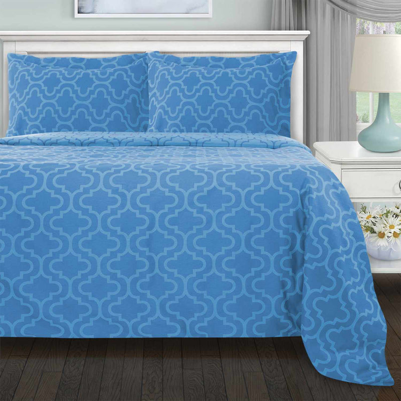 Flannel Paisley Duvet Cover and Pillow Sham Set