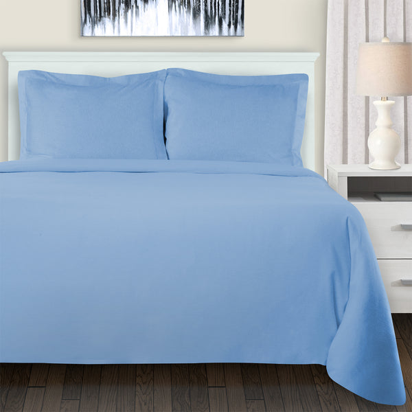 Superior Extra Soft Reversible Solid Duvet Cover Set