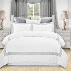 Glenmont Embroidered Duvet Cover Set, Long-Staple Cotton, 3 Sizes