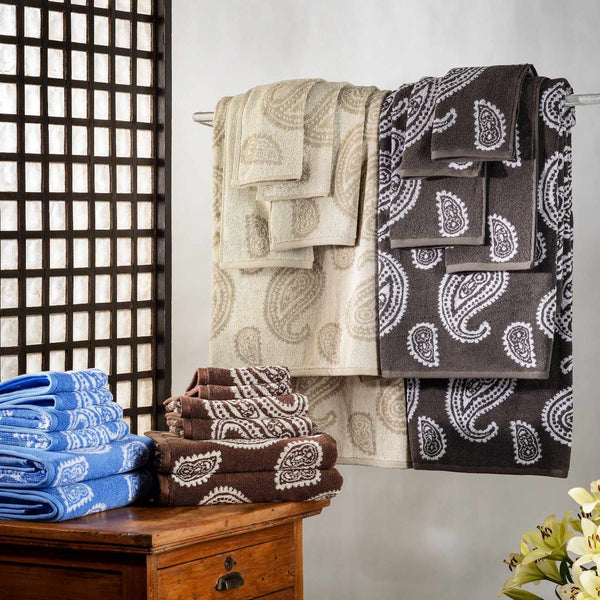 Decorative Paisley 2-Piece Bathroom Towel Set