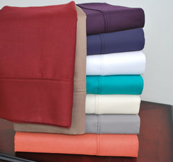 Luxury 800-Thread-Count Soft Cotton Blend Pillowcases Set of 2, 9 Colors