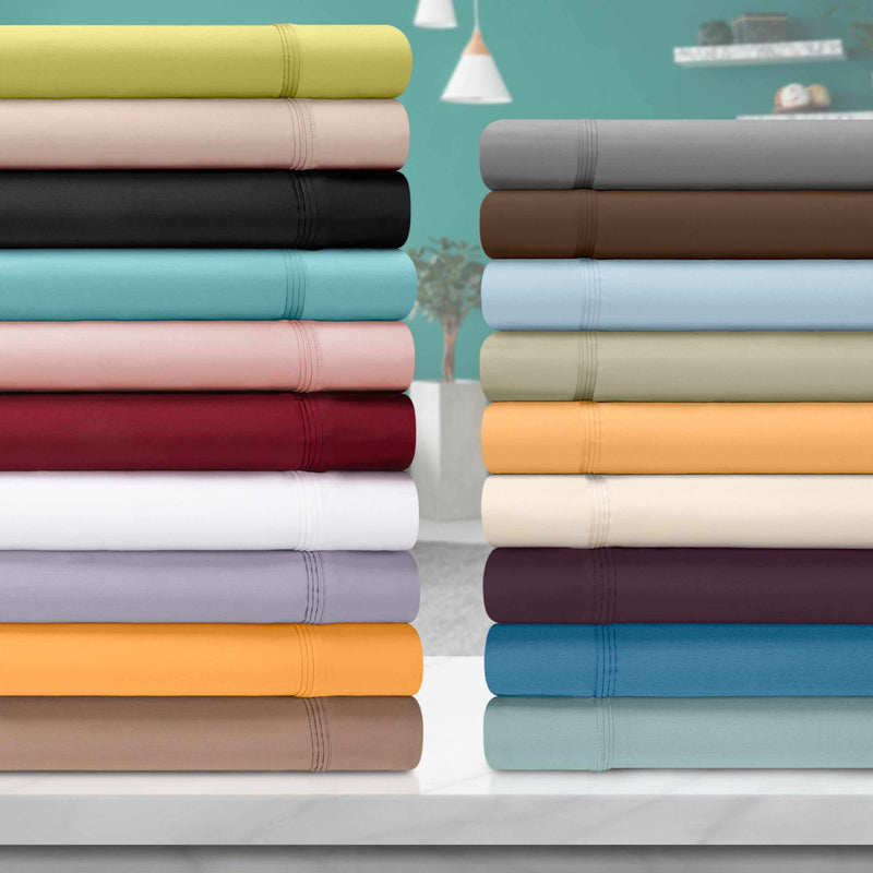 650-Thread Count 100% Egyptian Cotton Plush Deep Pocket Sheet Set