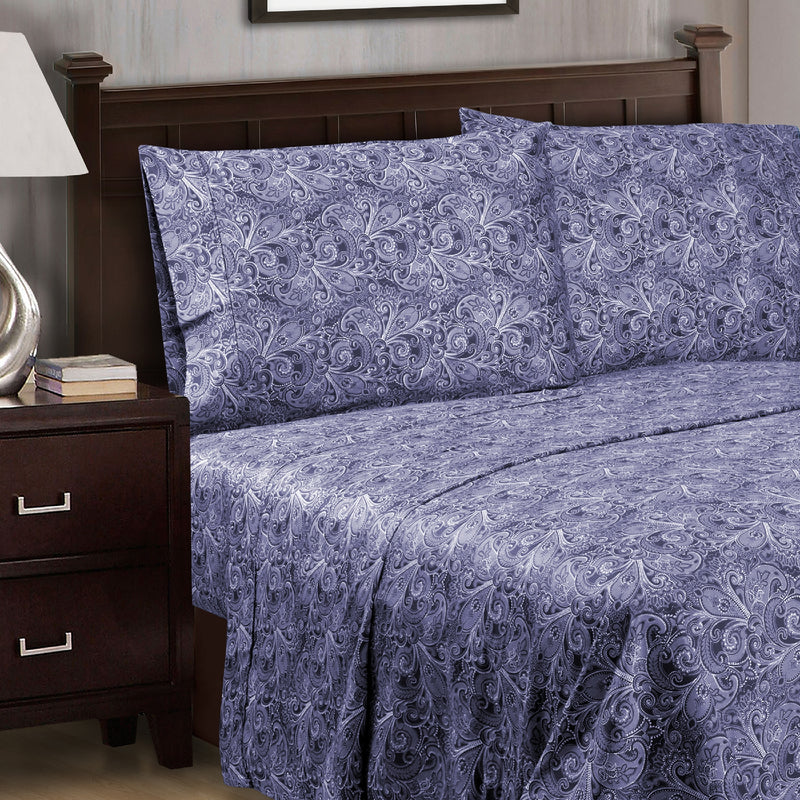 Decorative Alderwood Cotton Sheet Set