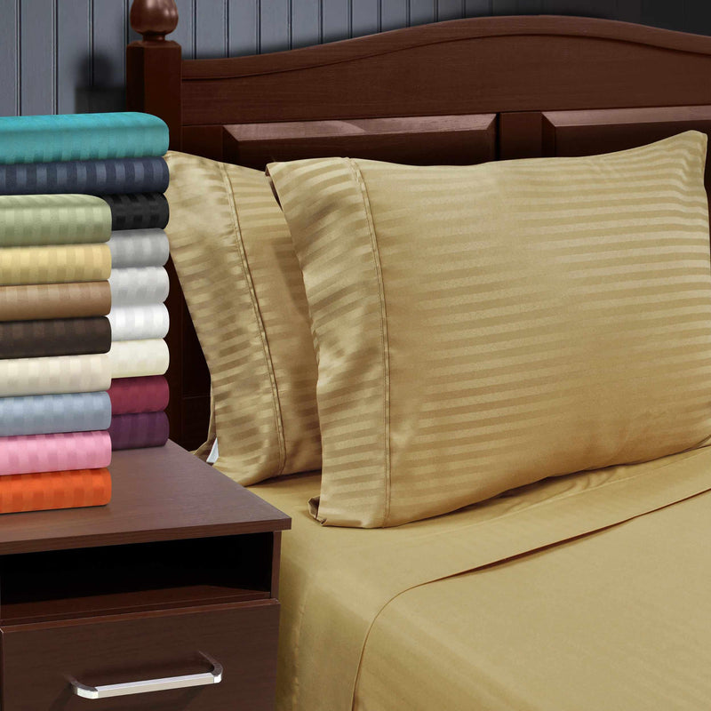 1500 Series Wrinkle Resistant Stripe Pillow Cases