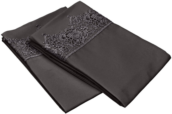 Embroidered REGAL LACE Pillowcases, 2-Piece, Wrinkle Free Microfiber, 13 Colors