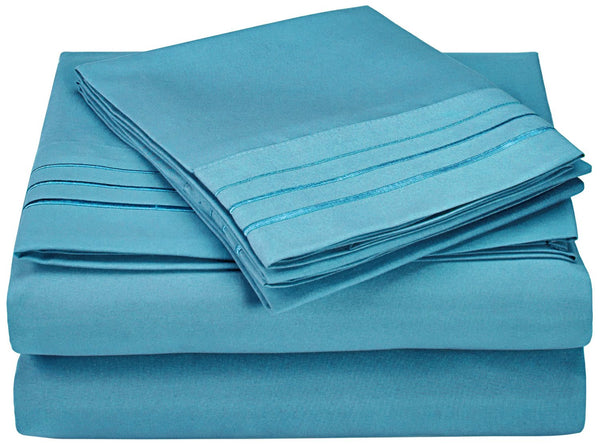 Wrinkle-Free 3-Line Embroidery Sheet Set
