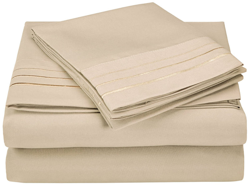 3000 Series Wrinkle Resistant 3 Line Embroidery Sheet Set