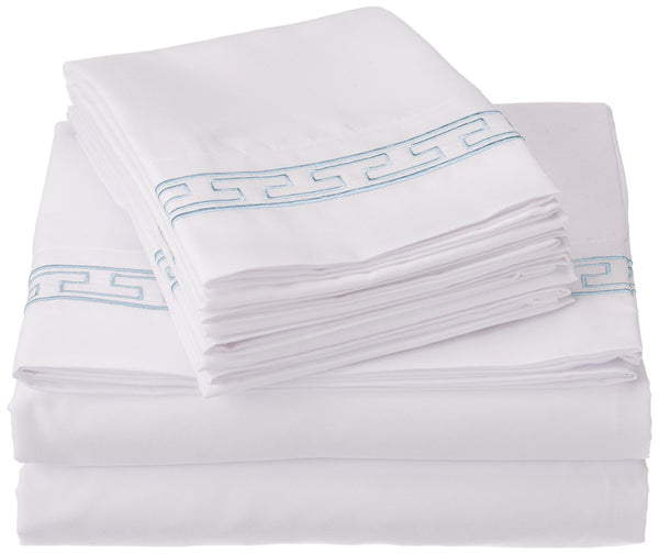 Elegant Embroidered Microfiber Sheet Set