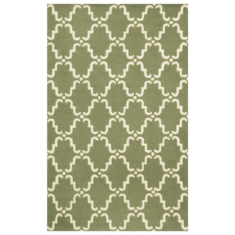 Moroccan Lattice Wool Area Rug Collection