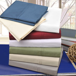 Percale 300-Thread-Count Pillowcases, Long-Staple Cotton, 2-Piece, 8 Colors