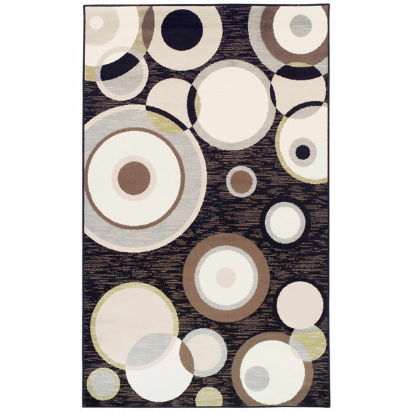 Ringoes Area Rug, Geometric, Circles, Modern