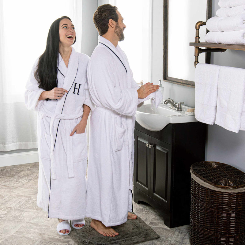 Egyptian Cotton Adult Unisex Monogrammed Bathrobe
