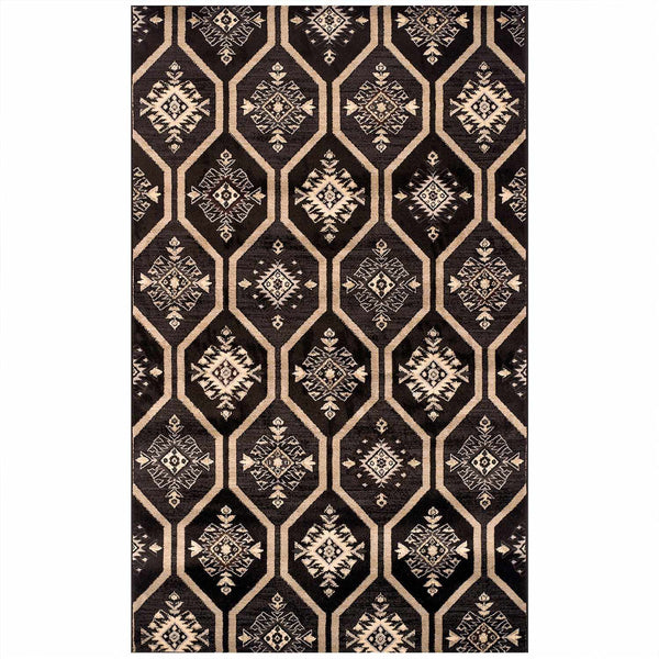 Aurora Area Rug, Woven Tapestry Design, Traditional