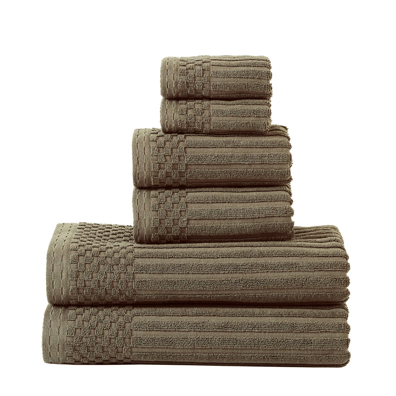 600 GSM Soho Collection  Cotton 6 Pc Towel Set