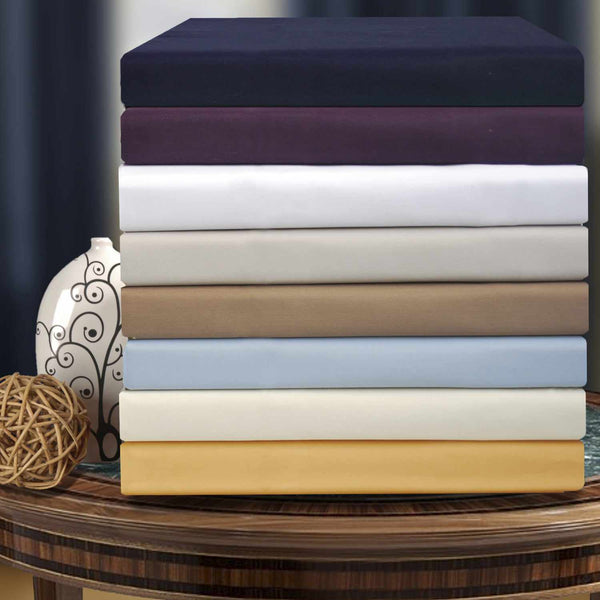 1000-Thread-Count Pillowcases Set, Cotton Blend, 8 Colors