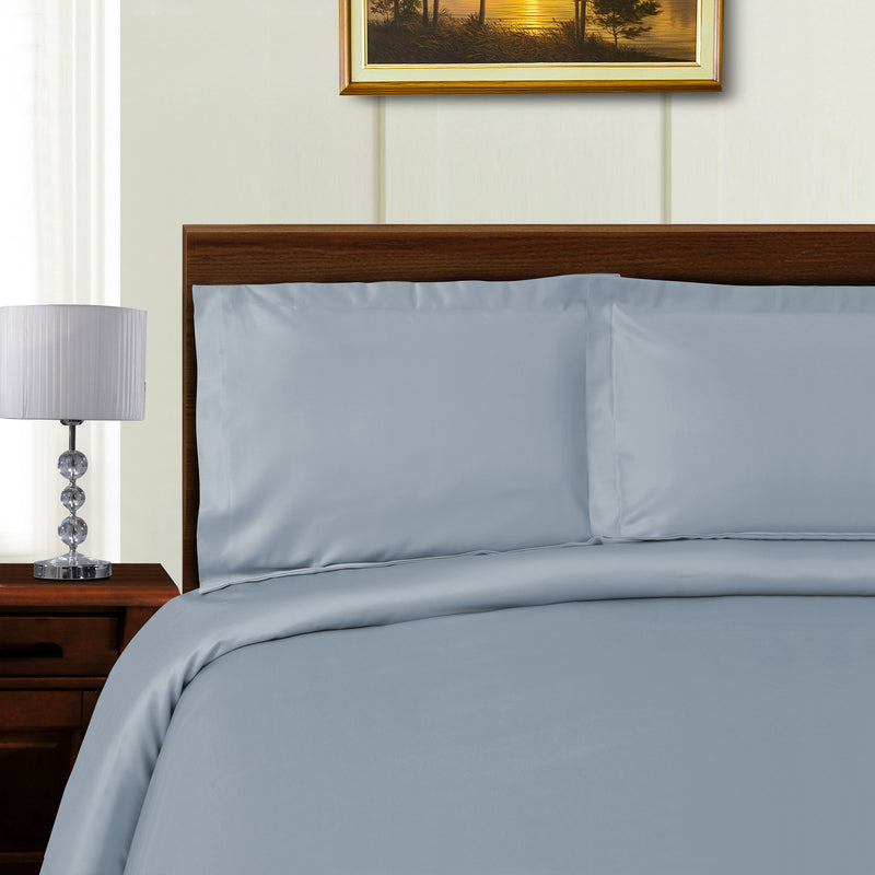 Silky Tencel Blend Duvet Cover Set, Button Closure, 600 Thread Count, 6 Colors