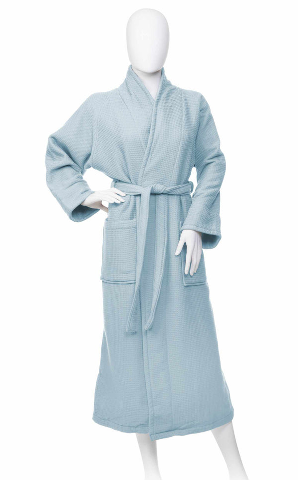 100% Premium Long-Staple Cotton Unisex Waffle Weave Bath Robe, 6 Colors