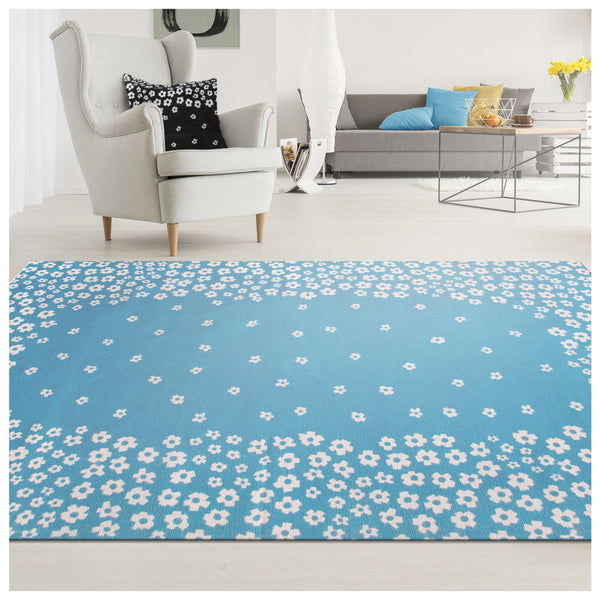 Wild Flower 100% Cotton Printed Area Rug Collection