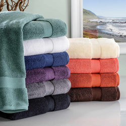 2-Piece Bath Towel Set, Absorbent Zero twist Cotton, 10 Colors