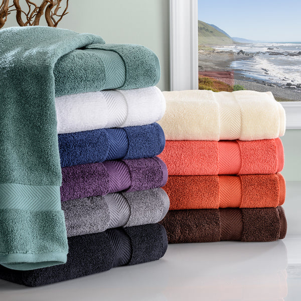 Zero Twist Cotton 2-Piece Bath Towel Set