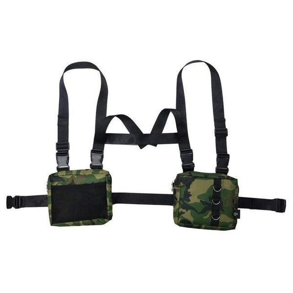 DOUBLE WAIST BAG VEST - Buy Techwear Fashion Clothing Scarlxrd Ha3xun Store