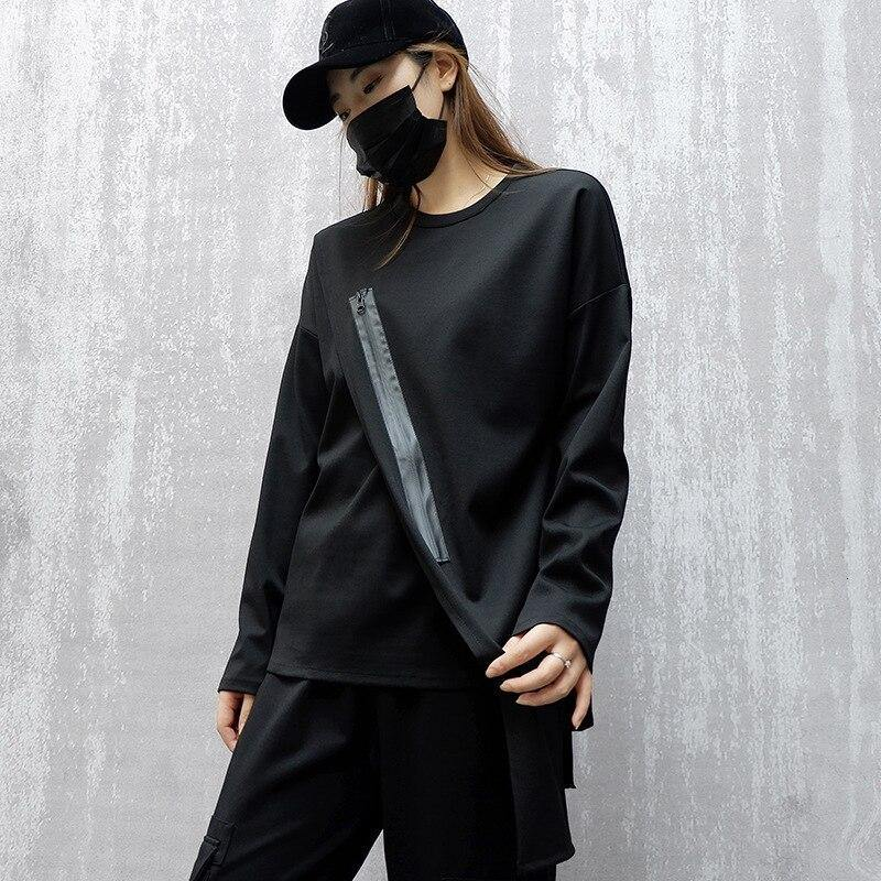 Zipper Sweatshirt - buy techwear clothing fashion scarlxrd store pants hoodies face mask vests aesthetic streetwear