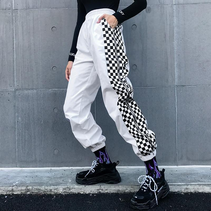 Checker Zip Cargo - buy techwear clothing fashion scarlxrd store pants hoodies face mask vests aesthetic streetwear