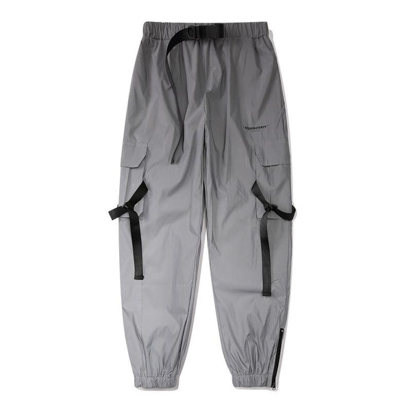 Reflective Cargo Joggers - buy techwear clothing fashion scarlxrd store pants hoodies face mask vests aesthetic streetwear