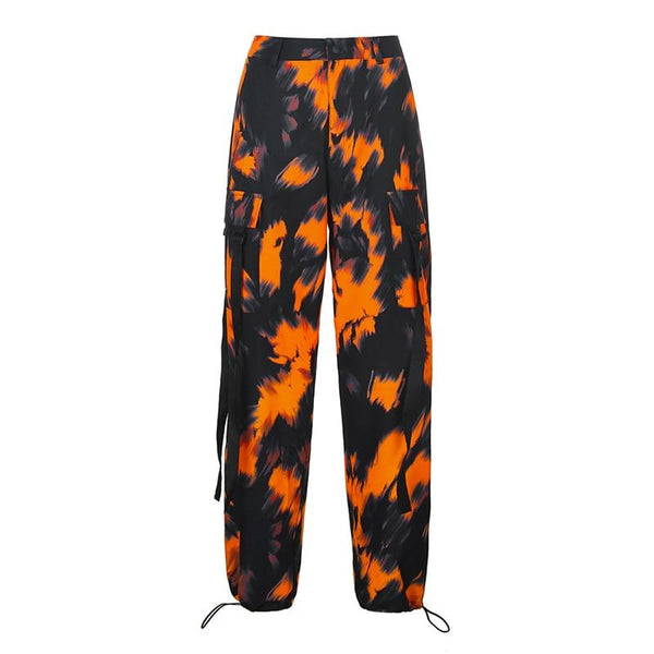 Orange Camo Cargo - Buy Techwear Fashion Clothing Scarlxrd Ha3xun Store