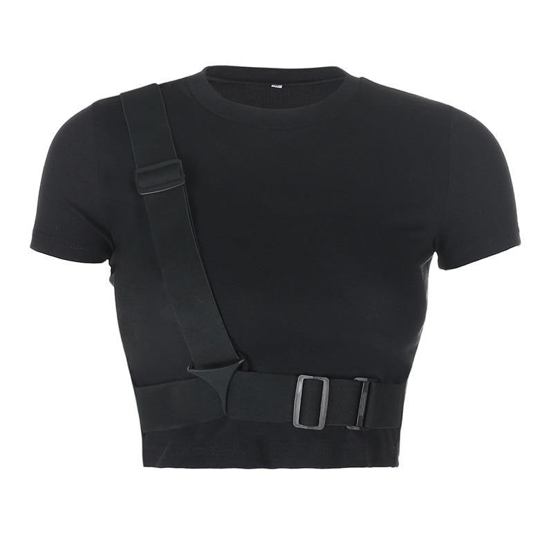 Database Belt Crop Top - buy techwear clothing fashion scarlxrd store pants hoodies face mask vests aesthetic streetwear