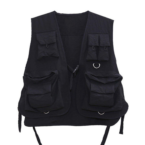 Multi Pockets Cargo Vest 1.0 - buy techwear clothing fashion scarlxrd store pants hoodies face mask vests aesthetic streetwear