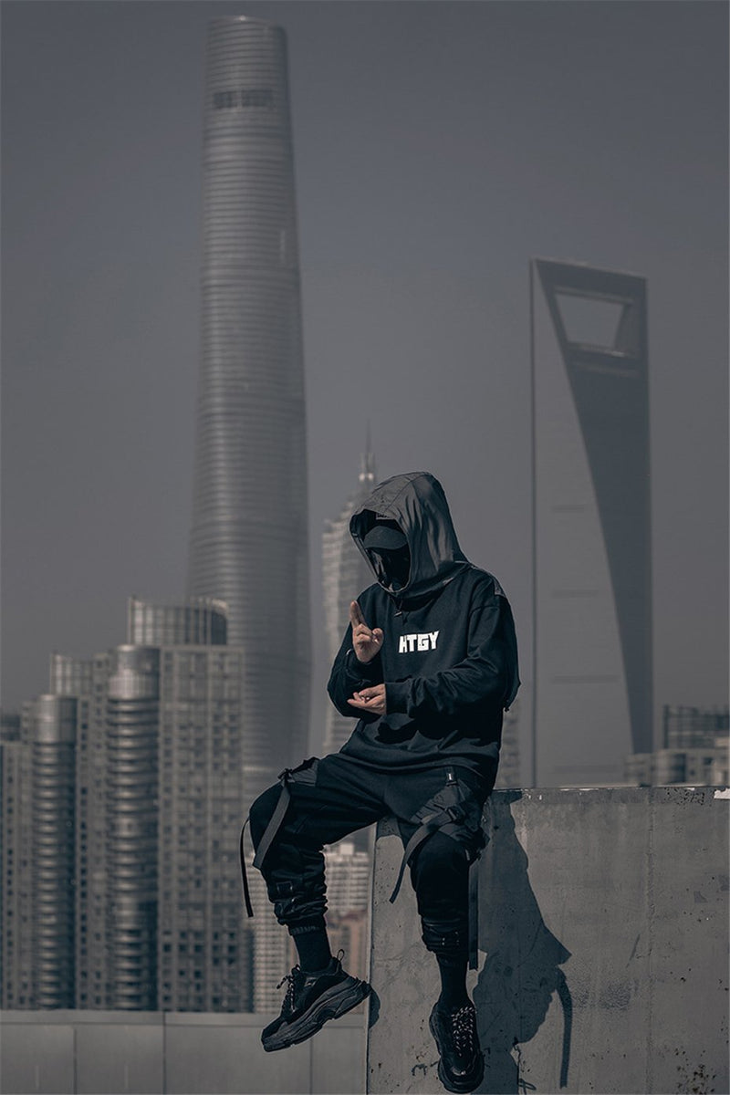 HTGY Block Hoodie - buy techwear clothing fashion scarlxrd store pants hoodies face mask vests aesthetic streetwear
