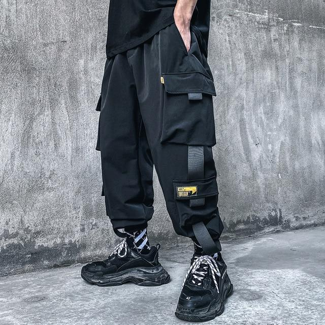 RIBBONS CARGO 1.0 - buy techwear clothing fashion scarlxrd store pants hoodies face mask vests aesthetic streetwear