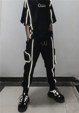 Reflective Stripes Track Pants - buy techwear clothing fashion scarlxrd store pants hoodies face mask vests aesthetic streetwear