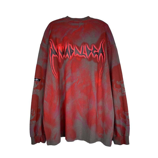 Custom Oversized Anime Graffiti Tee - buy techwear clothing fashion scarlxrd store pants hoodies face mask vests aesthetic streetwear