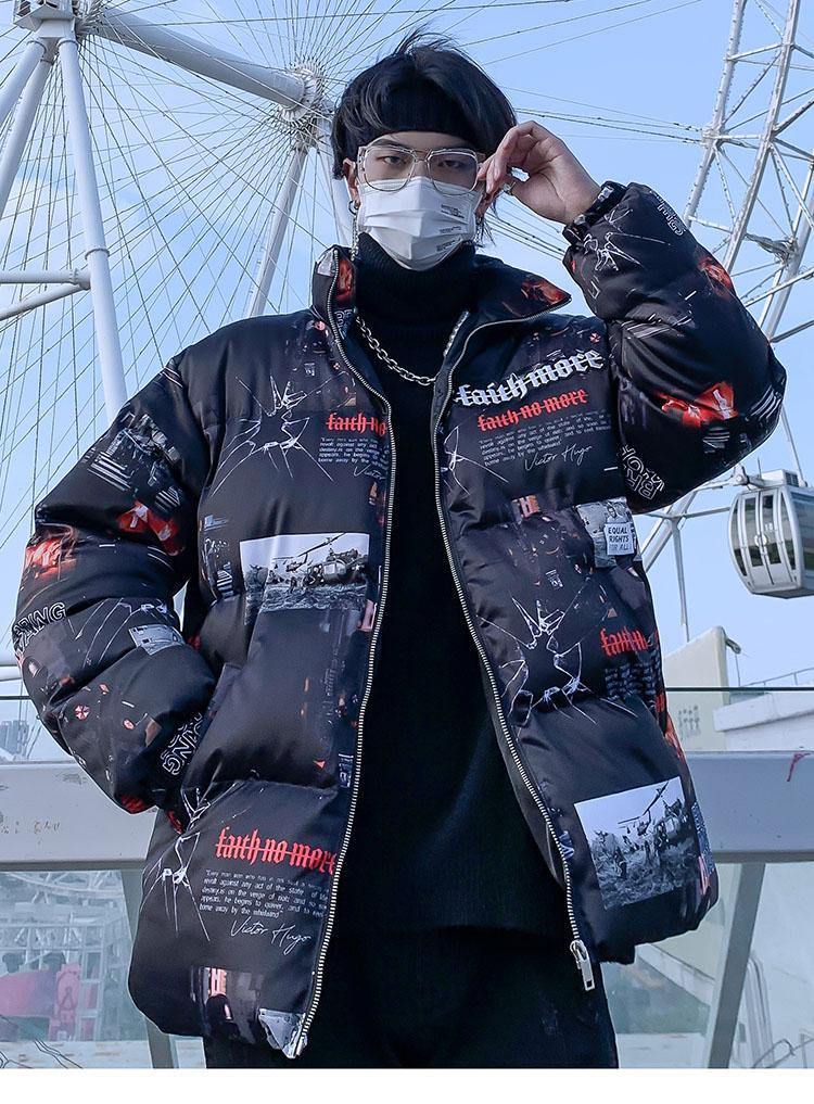 Dark Hell Padded Coat - buy techwear clothing fashion scarlxrd store pants hoodies face mask vests aesthetic streetwear