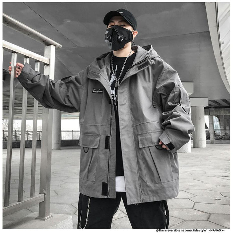 Multi Pockets Tactical Cargo Jacket - buy techwear clothing fashion scarlxrd store pants hoodies face mask vests aesthetic streetwear