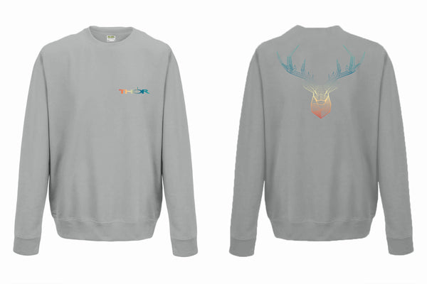 Geometric Stag - Light Grey Unisex Sweatshirt