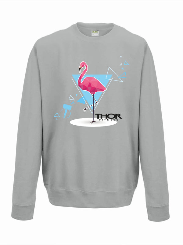 The Flamingo - Light Grey Unisex Sweatshirt
