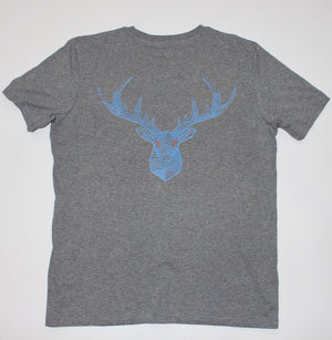 Geometric Stag - Heather Grey Unisex T-Shirt