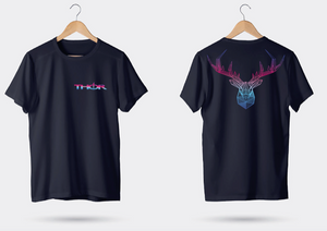 Geometric Stag - Black Unisex T-Shirt