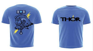 The Thor 'Beast Mode' - Mid-Blue Unisex T-Shirt