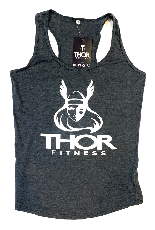 Viking Girl Tank - Charcoal